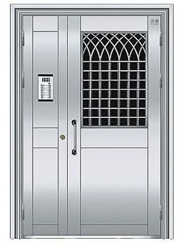 不锈钢楼宇门 (1)